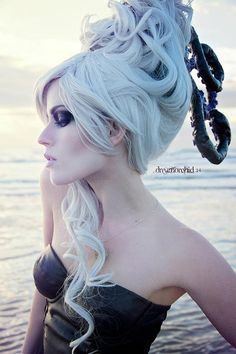 Ursula/Sea Witch Hair for Costume Halloween Party, Halloween Costumes, Easy Halloween, Mermaid Parade, Cosplay Hair, Sea Witch, Disney Cosplay, Hair Shows, Playing Dress Up