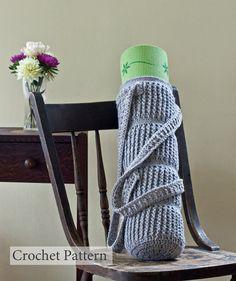 Crochet Pattern Yoga Mat Bag Cable Links  by HiddenMeadowCrochet, $4.50