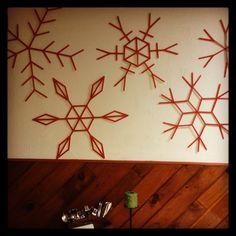 Popsicle stick snowflakes!