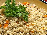 Vegetable Barley Risotto Recipe - Really easy and healthy way to eat summer squash when it is in season.