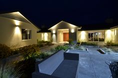 This home features a number of beautiful courtyards!