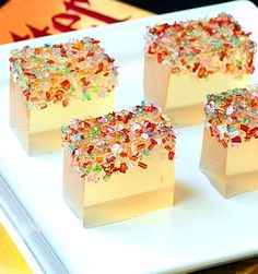 WHAT?? -- champagne jello shots with sprinkles