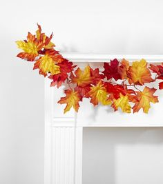 Flame Red Maple Garland 66''