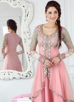 New Soft Pink Jacket Style Long Anarkali salwar Kameez buy best designer sarees collections,Best Deals On Womens Wear online store, Best Deals On Anarkali salwar Kameez, End of Season Sale on Designer Dress Matirials and Kurti #dress #salwarkameez #cotton #designer #readymad #fancydress #Anarkali #Paiala #Punjabi #Casual #Long #Cotton #long #saree #designer #printedsaree #casualwear #casualstyle #casualsaree #silksarees