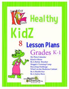 Healthy KidZ  Lesson Plan Bundle  - Grades K-1