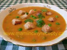 Batátová polévka Cheeseburger Chowder, Thai Red Curry, Soup, Ethnic Recipes, Fit, Soups