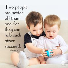 Two people are better off than one, for they can help each other succeed. ~ Ecc. 4:9 #NLT #Bible