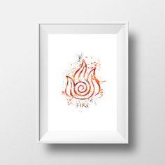 Avatar la leyenda de Aang fuego impresión por LittleRainbowFox