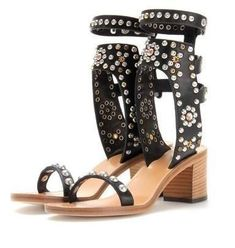 Online shopping with free worldwide shipping - Page 2 Cheap High Heels, Chunky Sandals, Fashion Heels, Women's Pumps, Leather Sandals, Me Too Shoes, Open Toe, Black And Brown, Brown Leather
