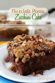 Brown sugar pecan crumbles bake into a crackly topping that melts into a moist, tender, chocolate cake. What a great way to enjoy your vegetables.