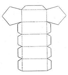 Material educativo para maestros: Plantillas para elaborar cuerpos geometricos Math Projects, School Projects, Projects To Try, Geometric Decor, Geometric Form, Prisma Pentagonal, Paper Bag Design, 3d Paper Crafts, Packaging Design