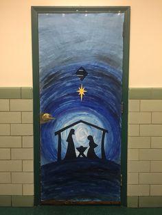 Classroom door decoration- Nativity scene
