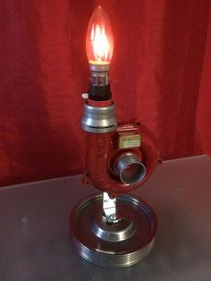 Turbo Desk Lamp, Steampunk, Man cave, Bar, Engine Lamp, Up Cycled | eBay