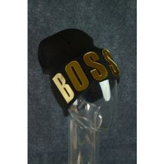 Boss Black Beanie Hat Hiphop Mirrored Letter Beanie Trend Fashion Black & Gold  $14 Only  www.monrevecollection.com