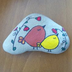 Simple painted rock design