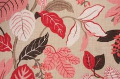 FABRICGURU.com Braemore Rossano Printed Heavy Cotton Decorator Fabric in Blossom $11.95 per yard