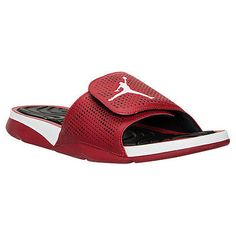 60d400716fa Nike Jordan Hydro 5 Mens 820257-601 Gym Red White Slide Sandals Slides Size  10