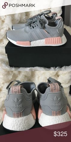 Adidas girls nmd size 5, 5.5, and 7 Deadstock! Rare and. Sold out everywhere!! Girls size 5 grey and pink adidas nmds. Always Authentic. Adidas Shoes Sneakers