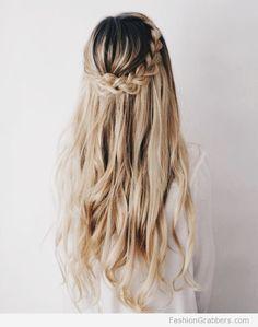 | The cutest braid crown for a boho look |
