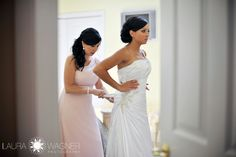 Bride getting ready - Laura Wagner: Boston Wedding Photographer #bostonweddingphotographer  www.laurawagnerphotography.com