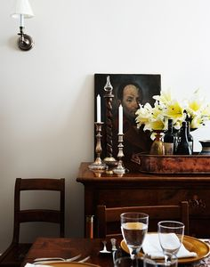 candles, painting, flowers  photo credit: Agnus Fergusson via Desire to Inspire