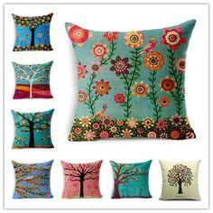 2015 Estilo Natural de Moda de Nova Árvore Almofada Impressão travesseiro Cama Sofá Casa Decorativo Travesseiro Parágrafo Almofadas Fundas Cojines