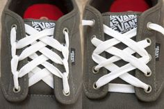 20bd88ede6e1 How to Make Cool Designs With Shoelaces for Vans