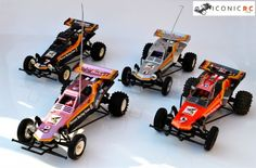 The Iconic Tamiya Hornet in 4 different guises! Would you put this in your All Time Top 100 RC Cars? #tamiya #rccars #rc