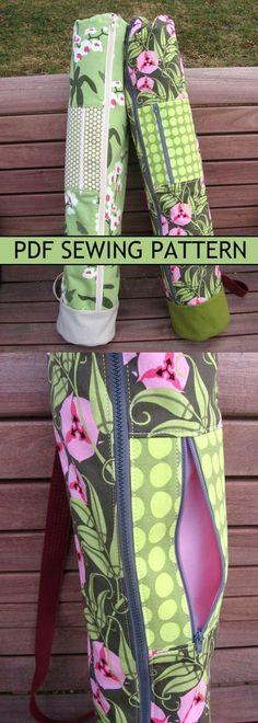 Instant download yoga mat bag pattern #yoga #sewing #affiliate #yogamatbags  #yogamatbags