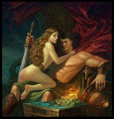 Mars and Venus, Roman gods.