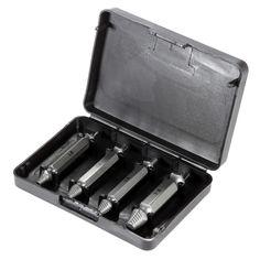 4 개 더블 엔드 박탈 나사 리무버 손상 나사 추출기 세트 볼트 추출기 목공 도구 드릴 taladro 수동