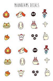 Calcomanías para las uñas. | 47 Productos completamente adorables de Studio Ghibli que necesitas inmediatamente