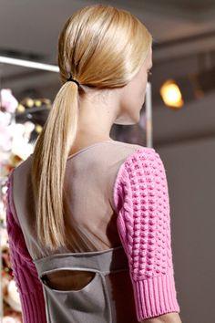 Jil Sander, low ponytail  Via net-a-porter, j.crew