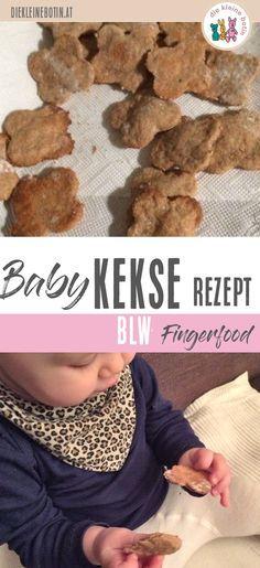 Baby-Kekse selbermachen! Das gelingt ganz einfach. Ohne Zucker und mit wenigen Zutaten ist das ein perfektes Fingerfood für BLW (baby-led-weaning) und breifrei. Kleinkinder mögen es als gesunden Snack am Spielplatz. Rezept für Baby-Mamas.