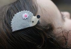 Cute Hedgehog Hair Clip - Meet Miss Henley - MORE COLORS. $3.25 USD, via Etsy.