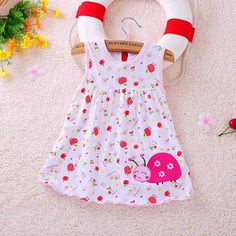 Nice 2017 new baby dress cute animal plant baby dress little girl in sleeveless dress casual cotton vest little princess dress - $5.07 - Buy it Now!
