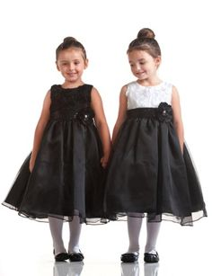 Cora Swirly Bodice Flower Girl Dress with Flower Sash for Girls - Appealing Apparel:Price: $45.29 - Everyone will be asking you about this posh little dress!