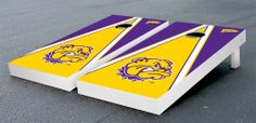 Our Western Illinois University WIU Leathernecks Cornhole Game Set Triangle Wooden. Get your custom set at victorytailgate.com