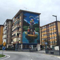 """""""another view from my last big wall in my born city *welcome to SerzOkudaLand* by @okudart & #joseluisserzo / @desvelarte  Santander. Spain 2015 +++"""""""