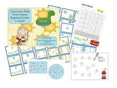 Summertime Math Work Stations by janelle