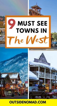 9 great small towns of the West Coast that should not be missed. These small mountain towns make for a cozy visit during both summer and winter. Perfect destinations for any west coast road trip. Pacific Coast Highway, West Coast Road Trip, Road Trip Usa, Usa Roadtrip, Travel Usa, Travel Tips, Free Travel, Cheap Travel, Budget Travel
