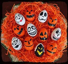 Halloween Easter Eggs. Because mixing holidays is awesome - I mean, it worked for Tim Burton.