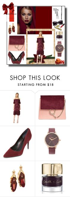 """""""Christmas Shopping Guide!!"""" by stylediva20 ❤ liked on Polyvore featuring Cinq à Sept, Chloé, Kendall + Kylie, Nixon, Gas Bijoux and Smith & Cult"""