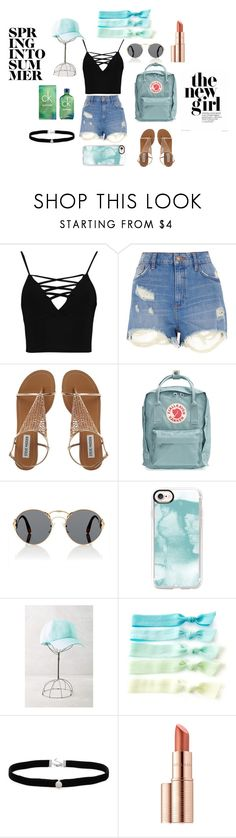 """""""Dory's Beach day🌴"""" by rxbx4 on Polyvore featuring Boohoo, River Island, Fjällräven, Prada, Casetify, Anthropologie, Amanda Rose Collection, Estée Lauder and Calvin Klein"""