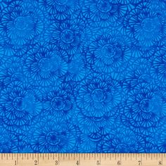 Timeless Treasures Color Crust Packed Floral Blue from @fabricdotcom  Designed for Timeless Treasures, this cotton print is perfect for quilting, apparel and home decor accents. Colors include shades of blue.