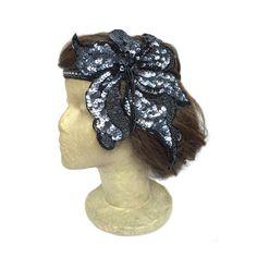 1920s Flapper Headband Beaded Headdress Gatsby by curtainroad