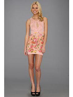 Type Z Keilana Keyhole Floral Dress