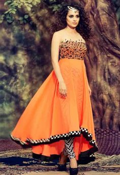 Orange Georgette Designer Salwar Kameez..@ fashionsbyindia.com #designs #indian #fashion #womens #style #cloths #fashion #stylish #casual #fashionsbyindia #punjabi #suits #wedding #salwar #kameez #chic #outfits #elegance #fantasy #beauty #anarkali