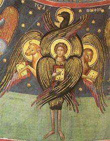 ESOTERICA: LOS QUERUBINES « Cada uno tenía cuatro caras [de hombre, león, toro y águila] y cuatro alas. . .y la planta de sus pies como planta de pie de becerro; y centelleaban a manera de bronce muy bruñido. Debajo de sus alas, a sus cuatro lados, tenían manos de hombre; y sus caras y sus alas por los cuatro lados