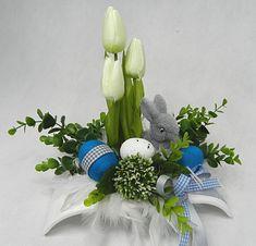 WIELKANOCNY ELEGANCKI NOWOCZESNY STROIK WIELKANOC - 7195991162 - oficjalne archiwum Allegro Easter Flower Arrangements, Easter Flowers, Flower Boxes, Tulips, Display, Diy, Decor, Flower Arrangements, Roses